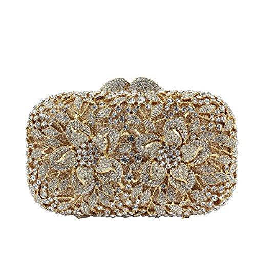 Le Luxe Femme De Yellow Sac Cristal Soirée Main Diamants Sac à x6xa1wTqF