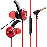 Gaming Earbuds with Dual Mic, Jelly Comb Stereo Base Gaming Headphones Earphones 3.5mm Comfortable Wired In-ear Headphones, E-Sports Earbuds for PS4, Xbox One,Nintendo Switch, PC, Laptop, Cellphone