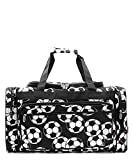 Soccer Print 23″ Overnight Duffel Bag with Shoulder Strap