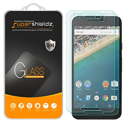 Supershieldz (2 Pack) for (Google) LG Nexus 5X Tempered Glass Screen Protector, Anti Scratch, Bubble Free