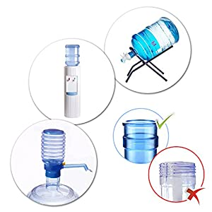 Non Spill Cap Anti Splash Bottle Caps Reusable for 55mm 3 and 5 Gallon Water Jugs with Water Bottle Handle Pack of 10