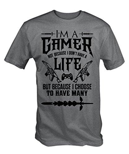 6TN Mens I'm a Gamer T Shirt (Grey XXL)