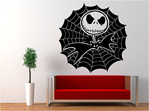 Jack Skellington Cobweb - Nightmare Before Christmas Decal Sticker for Window Wall Room Car (23
