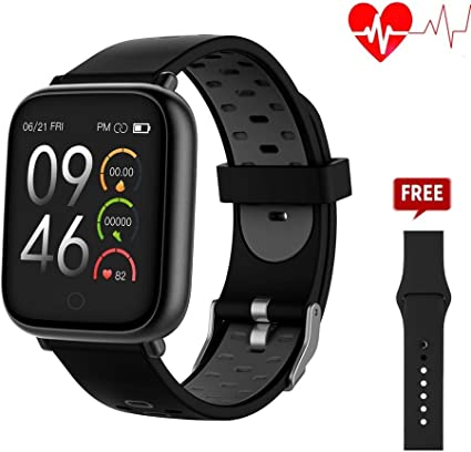 321OU Smart Watch - Fitness Tracker Watch with Heart Rate Monitor Activity Tracker Pedometer Sleep Monitor Calorie Counter for Men Women Kids ...
