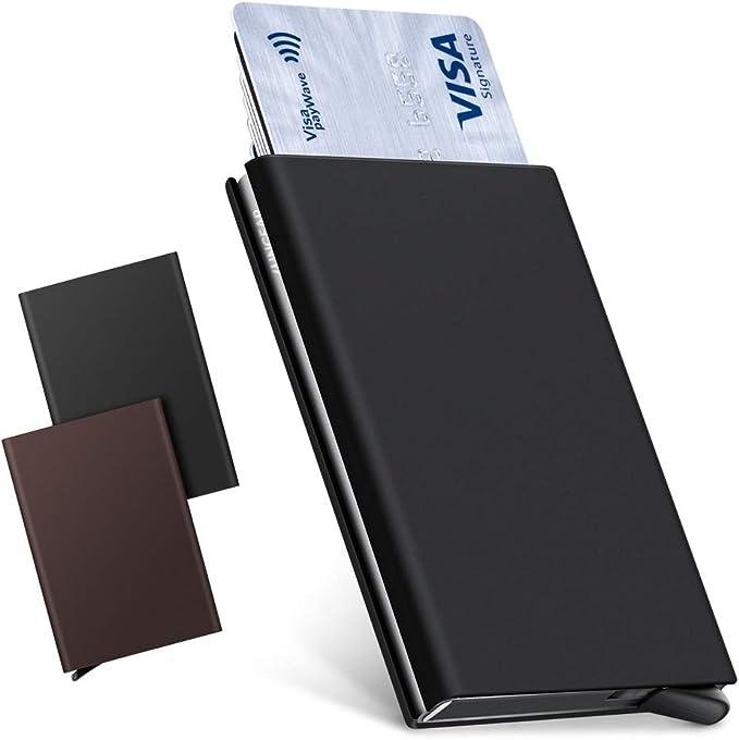 /Tarjetero Billetero Color 1 Capacidad para 4-6 para Tarjetas Unisex Estructura Met/álica Delgado Antideslizante Bloqueo RFID