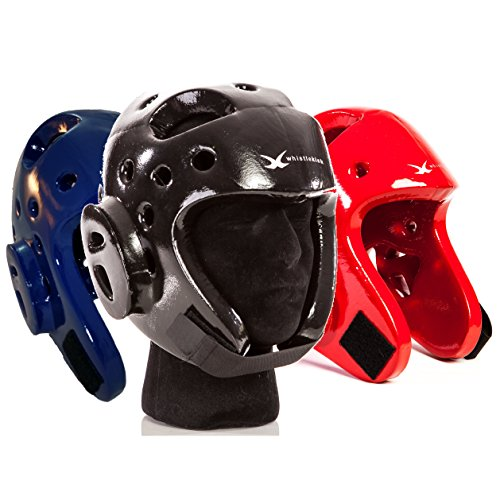 whistlekick Karate Sparring Gear Martial Arts Headgear - Includes FREE Backpack - Premium Sparring Helmet / Sparring Headgear for Taekwondo Sparring Gear Set. Martial Arts Equipment Adults & Children