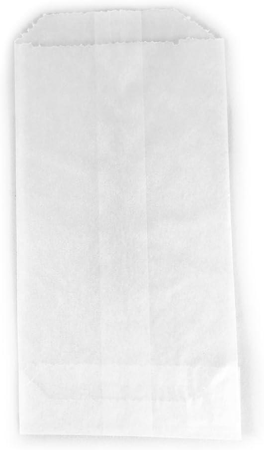 100 - Flat Glassine Wax Paper Bags - 3in x 5 1/2in - (7.6cm x 14cm) - Includes JenStampz Top 10 - Small (Standard version)