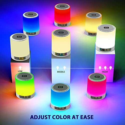 Night Lights Bluetooth Speaker, Ruoi Touch Sensor LED Bedside Lamp + Dimmable Warm Light & Color Changing, Wireless Speakers with Alarm Clock, MP3 Music Player, Best Gift for Kids, Party, Bedroom post thumbnail