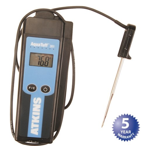 COOPER-ATKINS AquaTuff 351 Wrap & Stow Thermometer by Cooper-Atkins With micro-needle probe 34040N