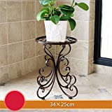 AIDELAI flower rack European Style Creative Metal Flower Racks Indoor And Outdoor Living Room Balcony Decoration Single Layer Flower Pot Rack Patio Garden Pergolas (Color : #2)