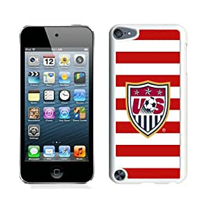 Unique iPod Touch 5 Case ,Popular And Durable Designed With USA Soccer 7 White iPod Touch 5 Cover
