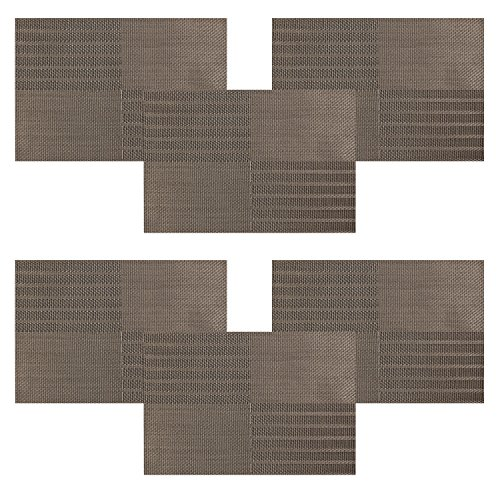 placemats u 39 artlines new grid pvc dining room placemats for table heat