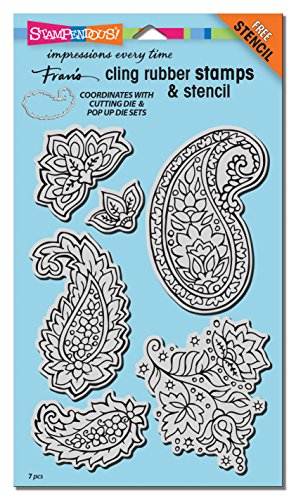 Pop Cards Halloween Up Homemade (Stampendous CRS5100 Cling Rubber Stamp Set, Paisley Pattern)