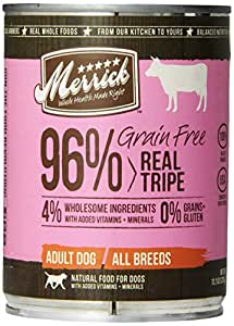 MERRICK PET CARE 295821 12-Pack 96-Percent Grain Free Tripe For Dog, 13.2-Ounce