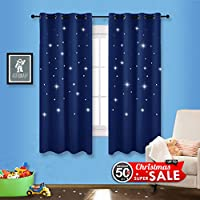 Romantic Starry Sky Blackout Curtains - NICETOWN Space...