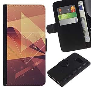 KingStore / Leather Etui en cuir / Samsung Galaxy S6 / Muster