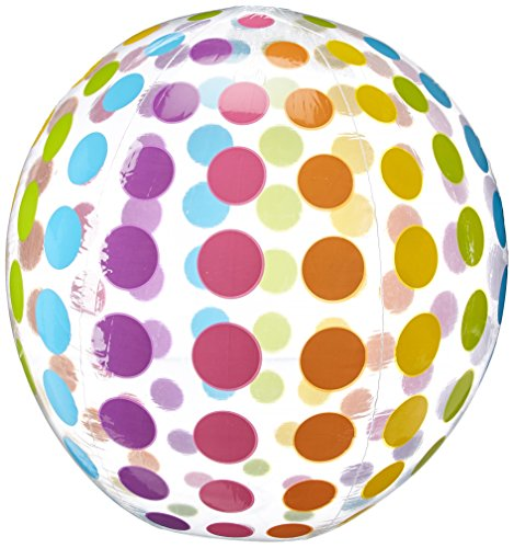 Intex Jumbo Inflatable Colorful Polka Dot Giant Beach Ball (Set of 2) | 59065EP