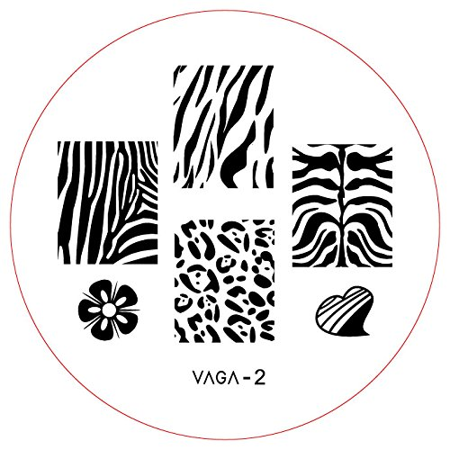 CH2 Professional Nail Art Salon Quality Stamp Template / Stamping Stencil / Image Plate With New Designs By VAGA