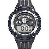 Tekday - 654622 - Montre Mixte - Quartz Digital - Cadran Noir - Bracelet Synthétique Noir