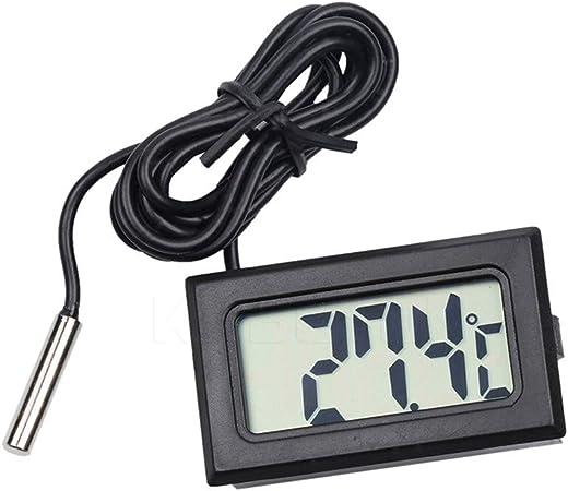 LCD Thermomètre Digital avec sonde pour aquarium, terrarium, réfrigérateur et congélateur