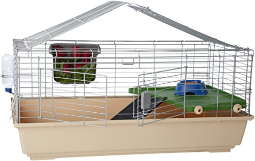 (AmazonBasics Small Animal Cage Habitat With Accessories - 42 x 24 x 20 Inches, Large)