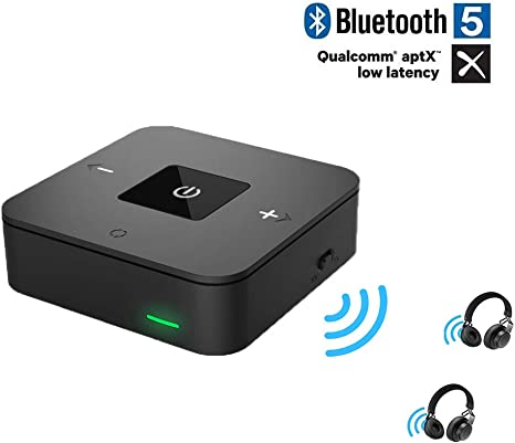 Wireless Bluetooth Transmitter/&Receiver AUX RCA Adapter for Speaker PC TV Laptop