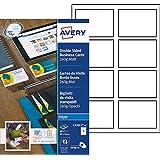 Avery 80 Cartes de Visite à Bords Lisses 260g - 85x54mm - Impression Jet d'Encre - Mat - Blanc (C32015)