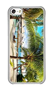 iPhone 5C Case,VUTTOO Stylish Palm Beach Hard Case For Apple iPhone 5C - PC Transparent