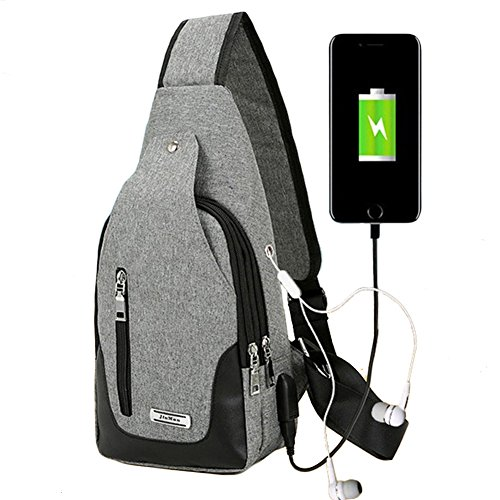 Theme Park - Buganda Sling Bag Chest Shoulder Backpack Men Women Crossbady Bags for Travel Outdoors Grey