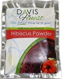 Davis Finest Hibiscus Powder for Hair & Skin - Pure Antiageing Skin Tightener Hydrating Brightener Face Mask Complexion Rescue - Natural Red Hair Dye Growth Shine Conditioner (100g)