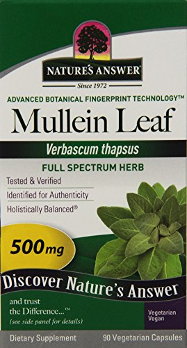Nature's Answer Mullein Leaf, 90-Count, 500 mg