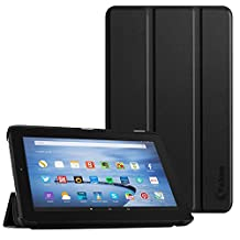 Fire 7 Case, Vakoo Ultra Thin Slim Fit Lightweight PU Leather Tri-fold Stand Cover for Amazon Fire 7 Tablet (7 inch Display, 5th Generation - 2015 release Only ) - Black