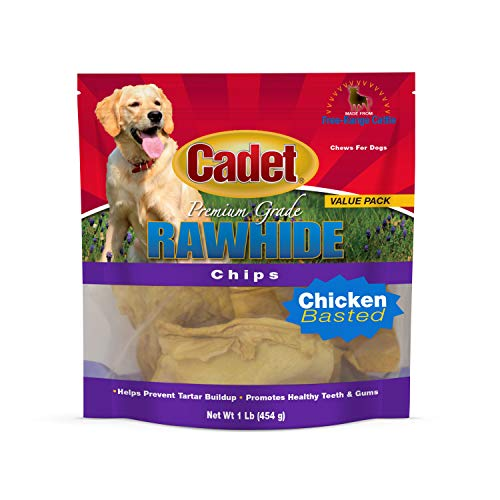 IMS Trading 10061-16 Chicken Rawhide Chips for Dogs, 1-Pound by IMS Trading