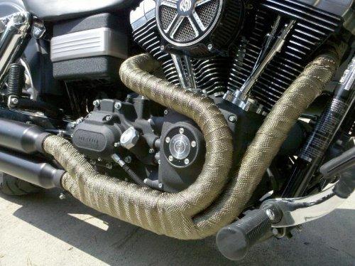 Colliers pour Tuyeau Manifold Or Lance Home Ruban Isolant Thermique C/éramique Echappement Moto VTT Tracteur Tondeuses Fibre Verre 10M