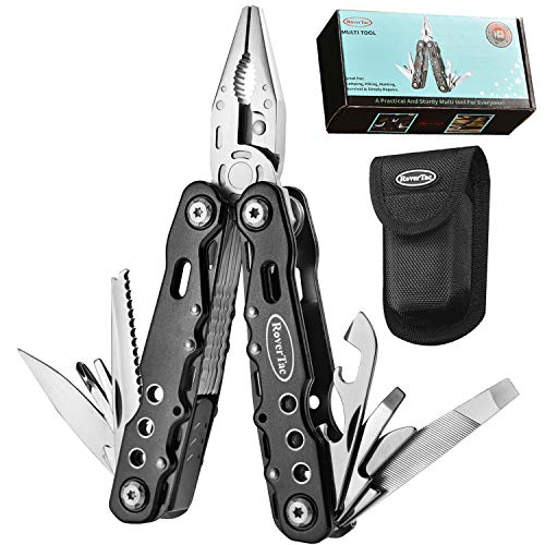RoverTac Multitool with Safety Locking Handy Gifts for Men Women