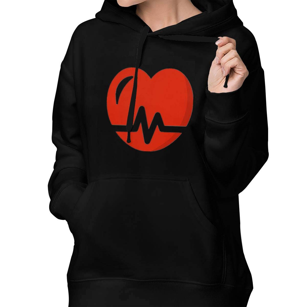 Heartbeat Womens Casual Zip-up Sweatshirts Jackets Coats with Front Pocket