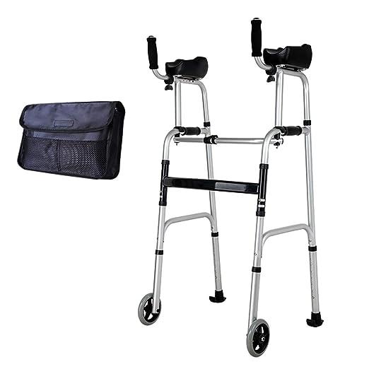 Trolley Walker Plegable para Ancianos Descansabrazos Desmontable ...