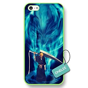 Onelee(TM) Manga Bleach iPhone 5C Case & Cover - Japanese Anime iPhone Case & Cover - Green