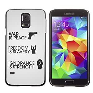 Designer Depo Hard Protection Case for Samsung Galaxy S5 / War Is Peace