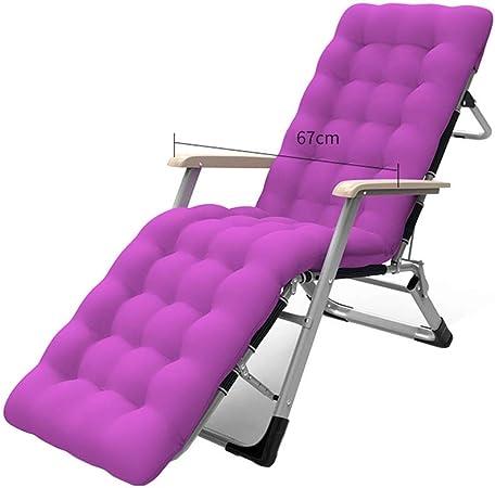 Tumbonas HAIYU- Chaise Longue, 180 ° Flat, 300 Kg Sillón Reclinable, Barra De Soporte, Balcón Jardín Terraza Camping Lounge Chair, Reposacabezas Desmontable (Color : Purple): Amazon.es: Hogar
