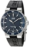 Oris Aquis Date Mens Blue Dial Black Rubber Strap Automatic Watch 73376534155RS