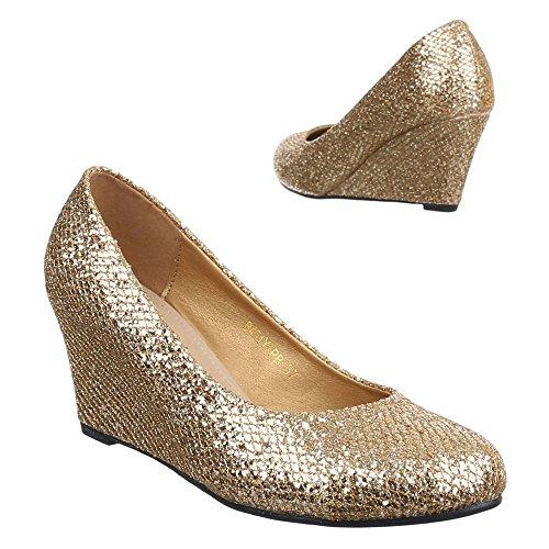 Ital-Design - Plataforma Mujer dorado