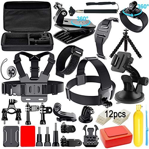 Action Camera Accessories Kit for Gopro Hero 8 7 6 5 4 3 Hero Session 5 Black SJ4000 5000 6000 Xiaomi Yi DJI AKASO Campark with Case