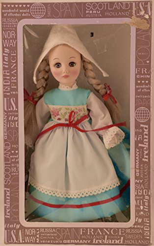 Corp - Item #1104 - International Series - Holland 11 inch Vinyl Doll - Traditional Dress - OOP - Like New - Rare - Collectible (Effanbee Vinyl Doll)
