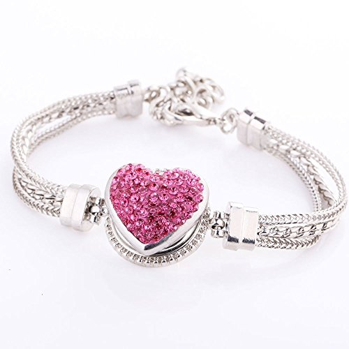 Meenanoom Wholesale Chunk Button Drill Punk Metal Jewelry Fit Bracelets For Snaps Charm -