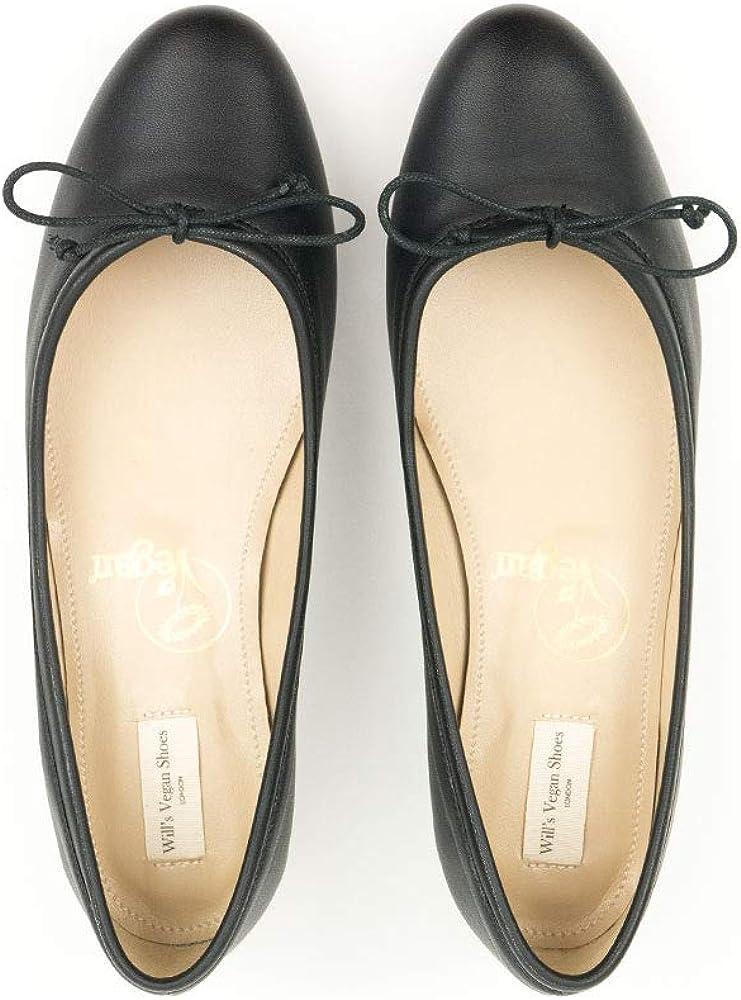 Will's Vegan Chaussures Femmes Ballerina Flats Noir: Amazon
