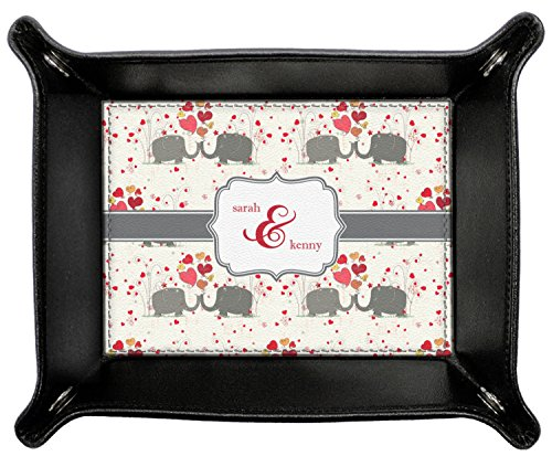 Elephants in Love Genuine Leather Valet Tray (Personalized) by RNK Shops