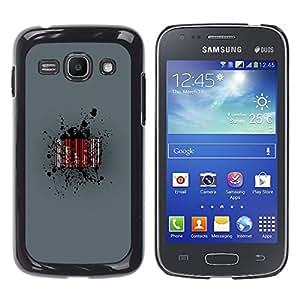 EJOY---Cubierta de la caja de protección la piel dura para el ** Samsung Galaxy Ace 3 ** --Barcode Sangre