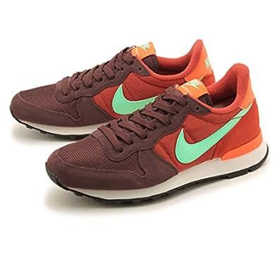 Nike Women's Wmns Internationalist, MAHOGANY/GREEN GLOW-CINNABAR-TOTAL ORANGE, 6 US