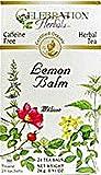 Celebration Herbals Organic Lemon Balm Tea Caffeine Free — 24 Herbal Tea Bags
